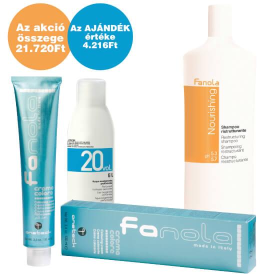 Fanola hajfesték, oxi és tápláló sampon